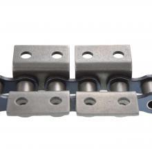 Łańcuch rolkowy specjalny z płytkami wygiętymi z dwoma otworami