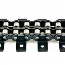 Łańcuch rolkowy dwurzędowy z płytkami wygiętymi