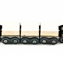 Łańcuch rolkowy dwurzędowy z mostkiem gumowanym