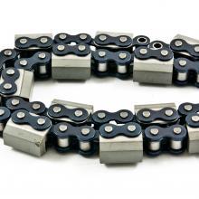 Łańcuch rolkowy z mostkiem gumowanym